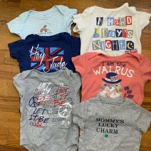 Baby Boy 9 Month Beatles and Carter's Onsies